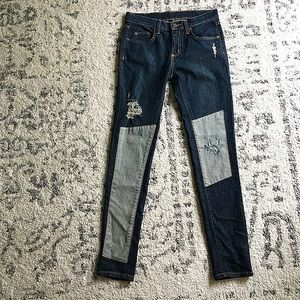 Carmar patchwork distressed skinny jean